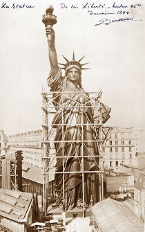 Statue of liberty's erection